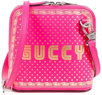 Gucci Pink Leather Mini Guccy Crossbody