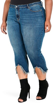Poetic Justice Faye Frayed Crop Jeans