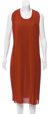 Bottega Veneta Plisse Midi Dress w/ Tags