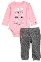 Under Armour Infant Girl's Dream, Believe, Achieve Bodysuit & Sweatpants Set