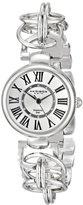 Akribos XXIV Women's AK679SS Lady Diamond Swiss Quartz Silver-tone Chain Link Bracelet Watch