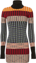 Missoni Multicolor Turtleneck Mini Dress