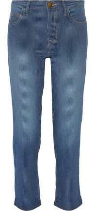 Current/Elliott The Fling Striped Boyfriend Jeans