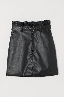 H&M Short imitation leather skirt
