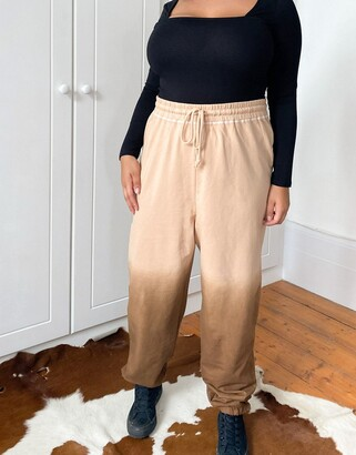 Collusion Plus Exclusive ombre trackies in brown