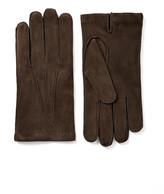 Suede Gloves In Ebony