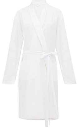 Skin Terry-towelling Cotton Robe - White