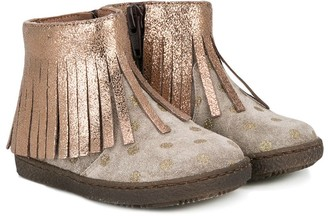 Pépé Fringed Trim Boots