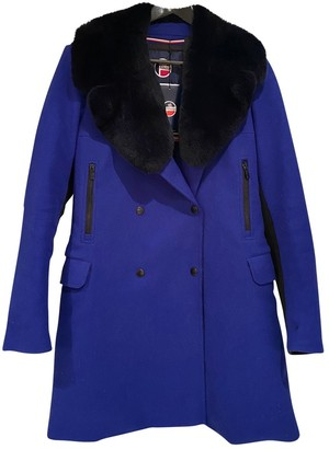 Fusalp Navy Wool Coat for Women