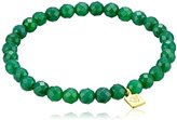 Satya Jewelry Green Onyx Stretch Bracelet