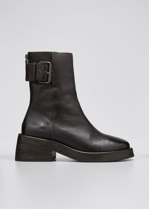 Marsèll Leather Buckle Ankle Booties