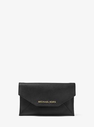 MICHAEL Michael Kors Jet Set Medium Saffiano Leather Clutch
