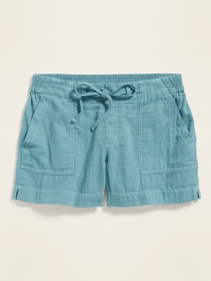 Old Navy Mid-Rise Soft Twill Pull-On Utility Shorts for Women -- 4-inch inseam