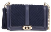 Rebecca Minkoff 'Chevron Quilted Love' Crossbody Bag - Blue