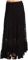 ABS by Allen Schwartz Lace Maxi Skirt (Black) - Apparel