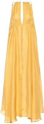 Cult Gaia Agatha silk maxi dress