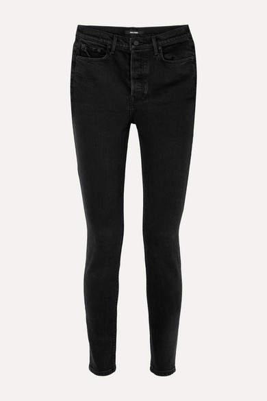 GRLFRND Karolina High-rise Skinny Jeans - Black
