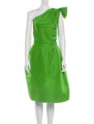 Oscar de la Renta 2020 Midi Length Dress Green