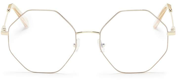 Chloé 'Palma' octagon frame metal optical glasses