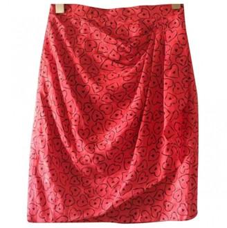 Azzaro \N Red Silk Skirt for Women Vintage