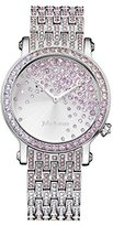 Juicy Couture LA Luxe Women's Quartz Watch with Silver Dial Analogue Display and Purple Stainless Steel Bracelet 1901347