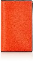 Valextra Men's Folding Card Case-ORANGE