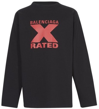 Balenciaga X Rated large fit T-shirt