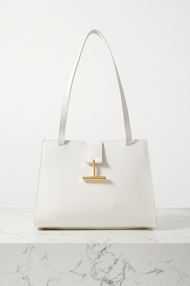Tom Ford Tara Medium Textured-leather Tote - Cream