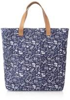 Veja Blue Marine Canvas Shoulder Bag