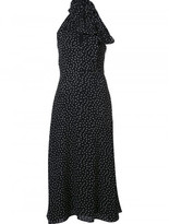 Saint Laurent polka dot maxi dress