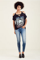True Religion Cold Shoulder Womens Tee