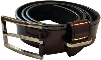 Christian Dior Burgundy Leather Belts