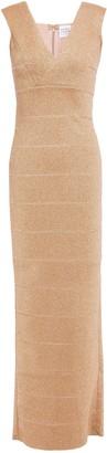 Herve Leger Metallic Bandage Gown