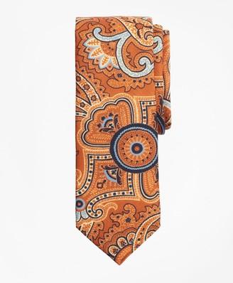 Brooks Brothers Paisley Print Wool Tie