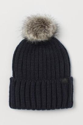 H&M Ribbed Hat - Blue