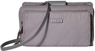 Vera Bradley Iconic Performance Twill RFID Deluxe All Together Crossbody (Tranquil Gray) Bags