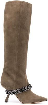 Nicholas Kirkwood Lea 90mm knee-high boots