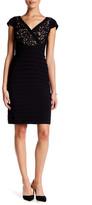Adrianna Papell Lace & Jersey Sheath Dress (Petite)