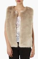 Topshop Faux Fur Vest