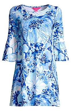 Lilly Pulitzer Women's Ophelia Floral Bell-Sleeve Shift Dress