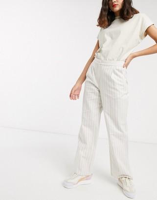 ASOS DESIGN linen slide pants in stripe