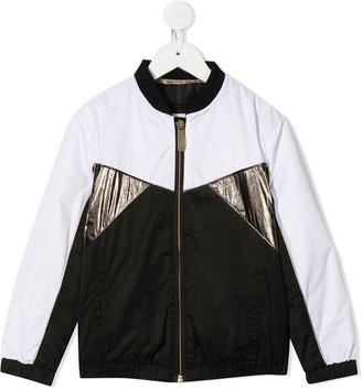 Boss Kids TEEN colour block bomber jacket