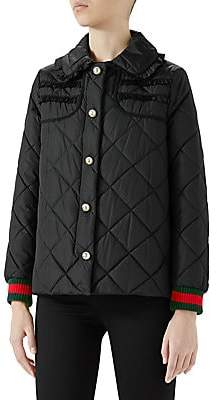 Gucci Women's Long Sleeve Quilted Nylon Jacket