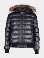 Burton Burton Faux Fur Hooded Bubble Quilted Jacket