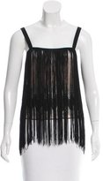 Missoni Fringe-Trimmed Sleeveless Top