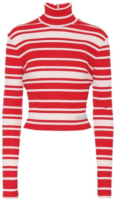 Prada Striped mock-neck sweater