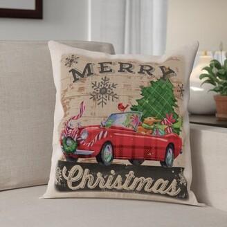 """The Holiday Aisleâ® Christmas Plaid Car 18"""" Pillow Cover The Holiday AisleA"""