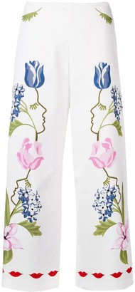 VIVETTA cropped printed trousers