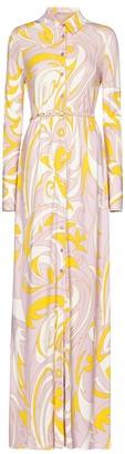 Emilio Pucci Printed crepe maxi dress
