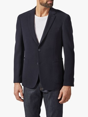 Richard James Mayfair Italian Textured Jersey Blazer, Navy